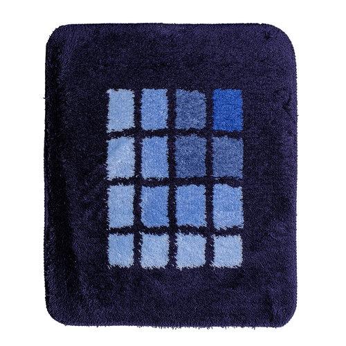 Badematte 60-16 blau kariert 60x90cm