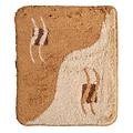 Badematte 60-12 braun-beige-creme 60x90cm