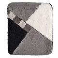 Badematte 60-07 grau-schwarz-weiß kariert 60x90