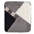 Bath mat 60-07 gray-black-white checkered 60x90