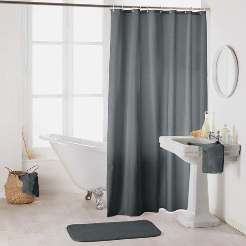 Shower curtain textile uni antracite