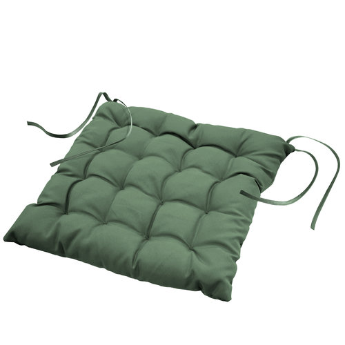 Stoelkussen-zitkussen Essentiel groen 40x40x7cm