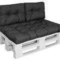 Pallet cushion Basic comfort Water-repellent half pallet length black 60x40x10 / 20cm