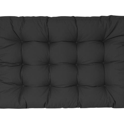 Palletkussen Basic comfort Waterafstotend zitgedeelte zwart 120x80x15cm