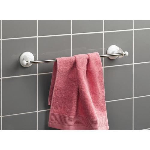 Ophangstang voor handdoek met zuignap wit