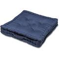 Zitkussen-Matraskussen Wicotex katoen 57x57x10cm blauw
