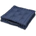 Zitkussen-Matraskussen Wicotex katoen 40x40x10cm blauw