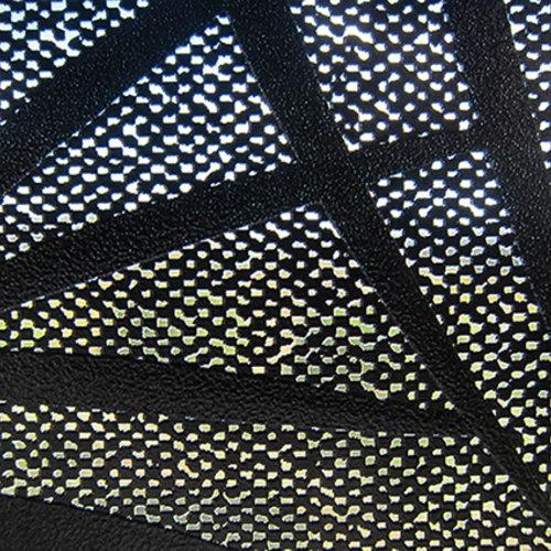 Raamfolie statisch-anti inkijk-Textiel Palms zwart 46cm x 20m