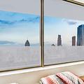 Window film static-anti-viewing Textile Palms gray 46cm x 20m