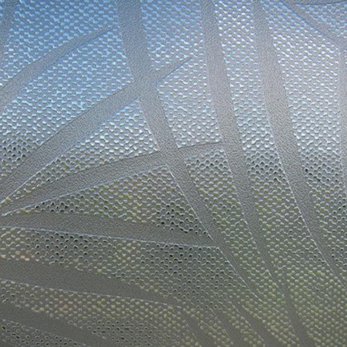 Raamfolie statisch-anti inkijk-Textiel Palms grijs 46cm x 20m