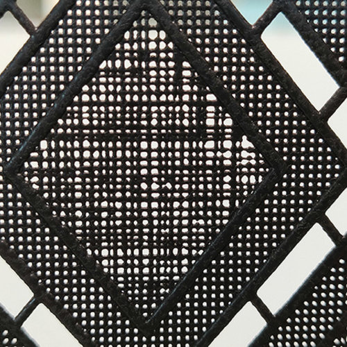 Fensterfolie statisch gegen Betrachtung Textil Rhombus schwarz 46cm x 20m