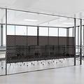 Window film static-anti-viewing Textile Rhombus black 46cm x 20m
