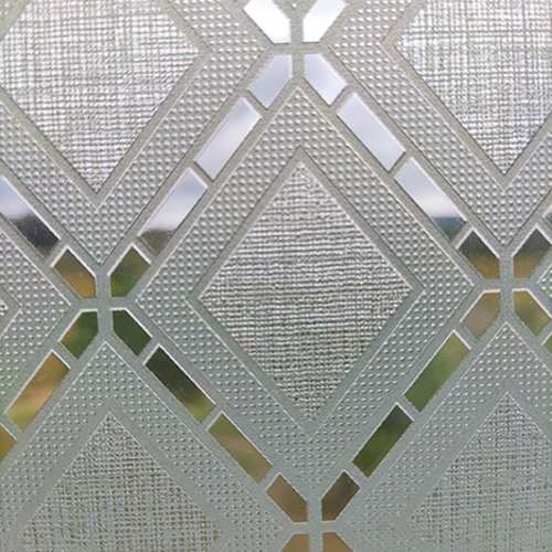 Window film static-anti-viewing Textile Rhombus gray 46cm x 20m