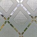 Window film static-anti-viewing Textile Rhombus gray 46cm x 1.5m