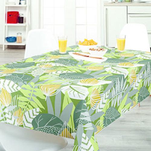 PVC oilcloth  jungle green
