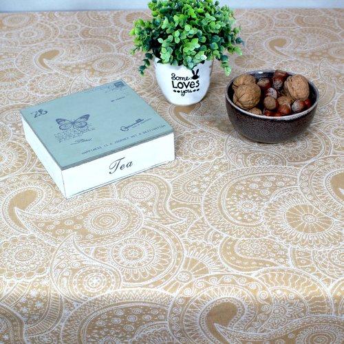 Coated table textiles Diemen Ocher