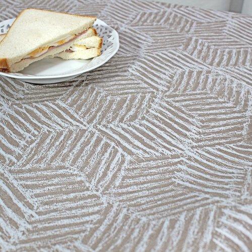 Coated table textiles Georgia Taupe