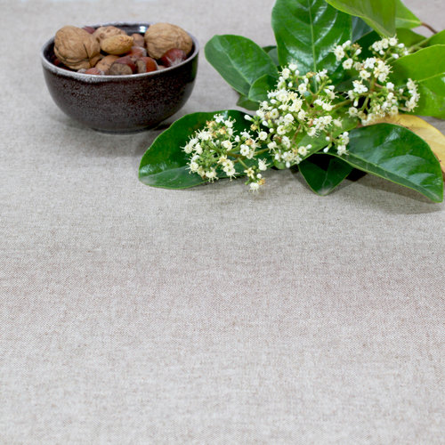 Coated table textiles Tabac Brown