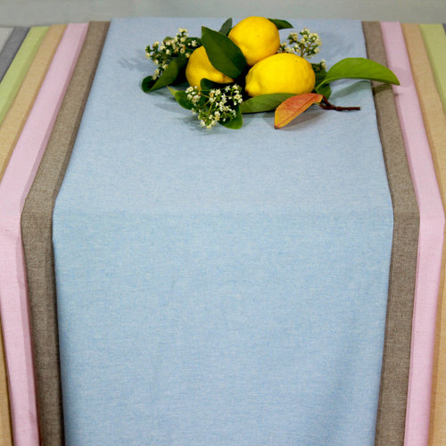 Coated table textiles Tabac Grey
