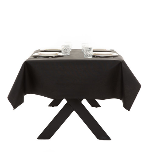 Coated Table textile Maly black