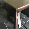 Coated Table linen chocolate brown