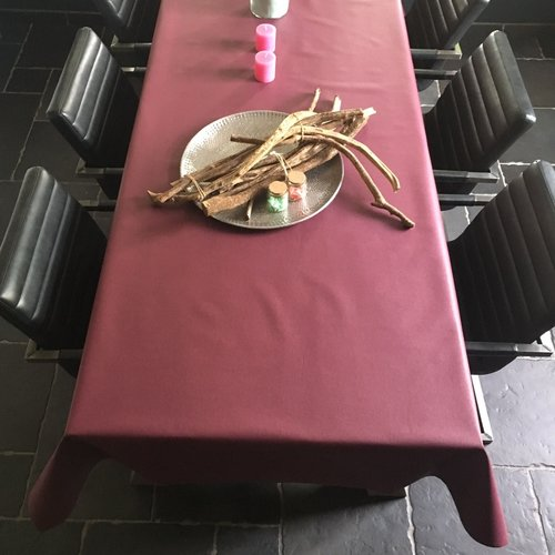Beschichtete Tischwäsche Weinrot