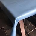 Coated table linen light blue