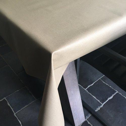 Coated table linen beige