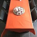 Coated Table linen light red