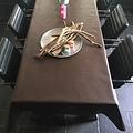 Gecoat tafellinnen - chocolade bruin