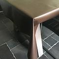 Beschichtete Tischwäsche schokoladenbraun