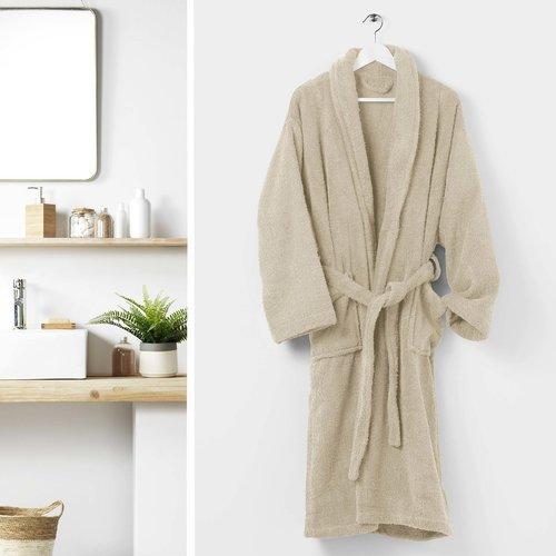 Badjas One size kleur creme