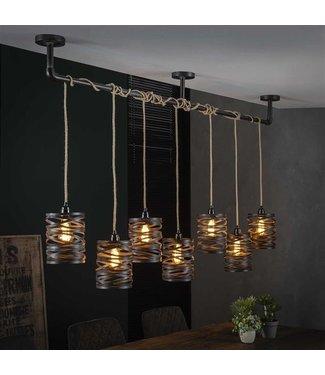 Hanglamp Industrieel 7L twist Wessel XL
