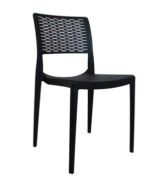 Dimehouse Chaise de jardin moderne Evora noir