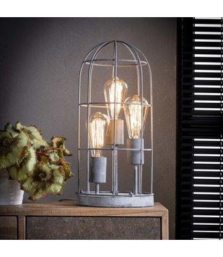 Dimehouse Lampe De Table Industrielle Métal Shiny