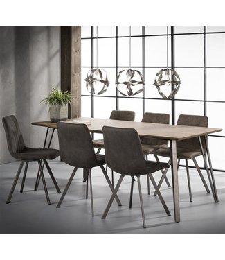 Table De Salle À Manger Industrielle Riga 190x90 cm