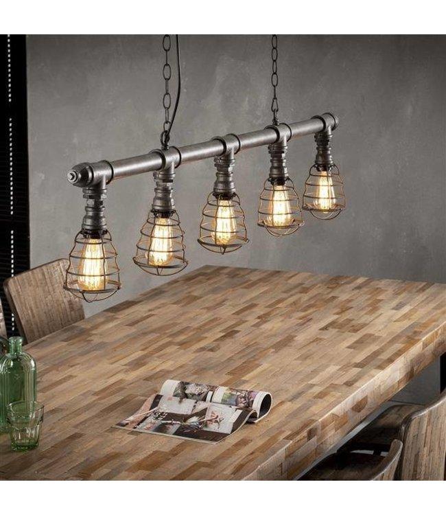 Industriële hanglamp Dayton 5-lichts