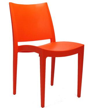 Dimehouse Chaise de jardin moderne Juan orange