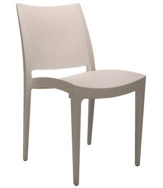 Dimehouse Chaise de jardin moderne Juan blanc
