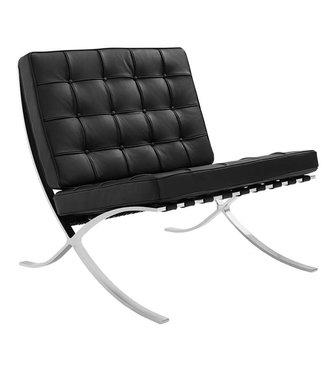 Dimehouse Fauteuil Design Expo zwart premium leer