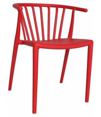 Dimehouse Chaise de jardin moderne Nour rouge
