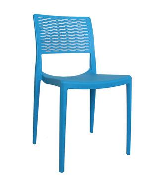 Dimehouse Chaise de jardin moderne Evora bleu