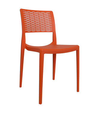 Dimehouse Chaise de jardin moderne Evora orange