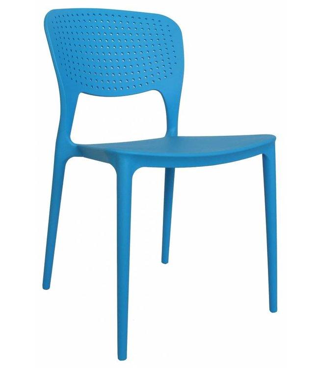 Dimehouse Chaise de jardin moderne Nino bleu
