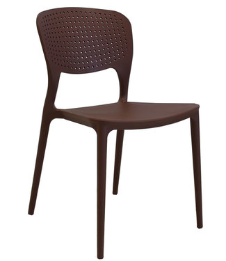 Dimehouse Chaise de jardin moderne Nino brun