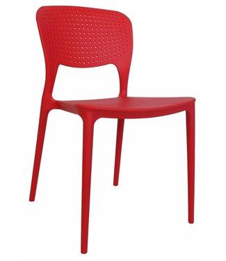 Dimehouse Chaise de jardin moderne Nino rouge