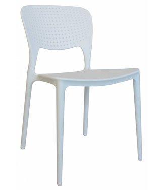 Dimehouse Chaise de jardin moderne Nino blanc