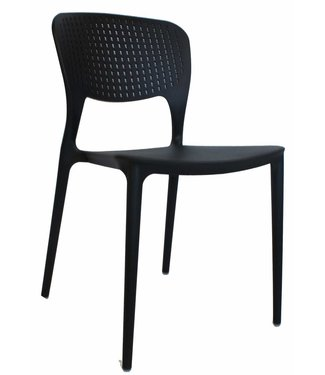 Dimehouse Chaise de jardin moderne Nino noir