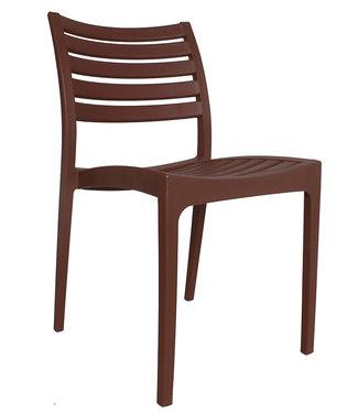 Dimehouse Chaise de jardin moderne Senna brun