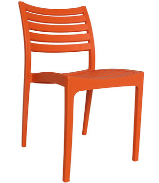 Dimehouse Chaise de jardin moderne Senna orange